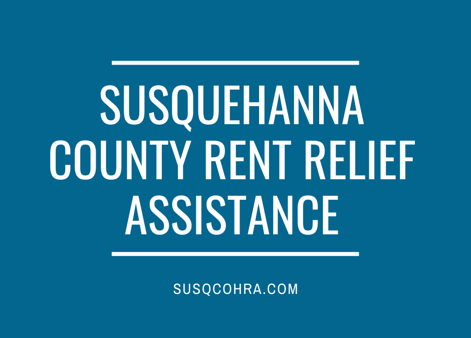 Apply now: Susquehanna County Rent Relief Program