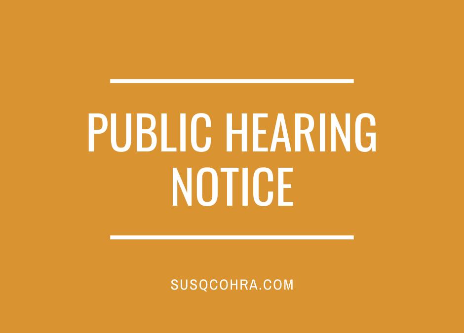 Public Hearing Notice: June 8, 2021